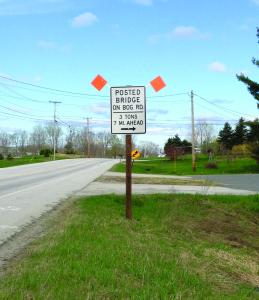 Posting of the Bog Road Bridge in Benton has resulted in increased emergency response times.
